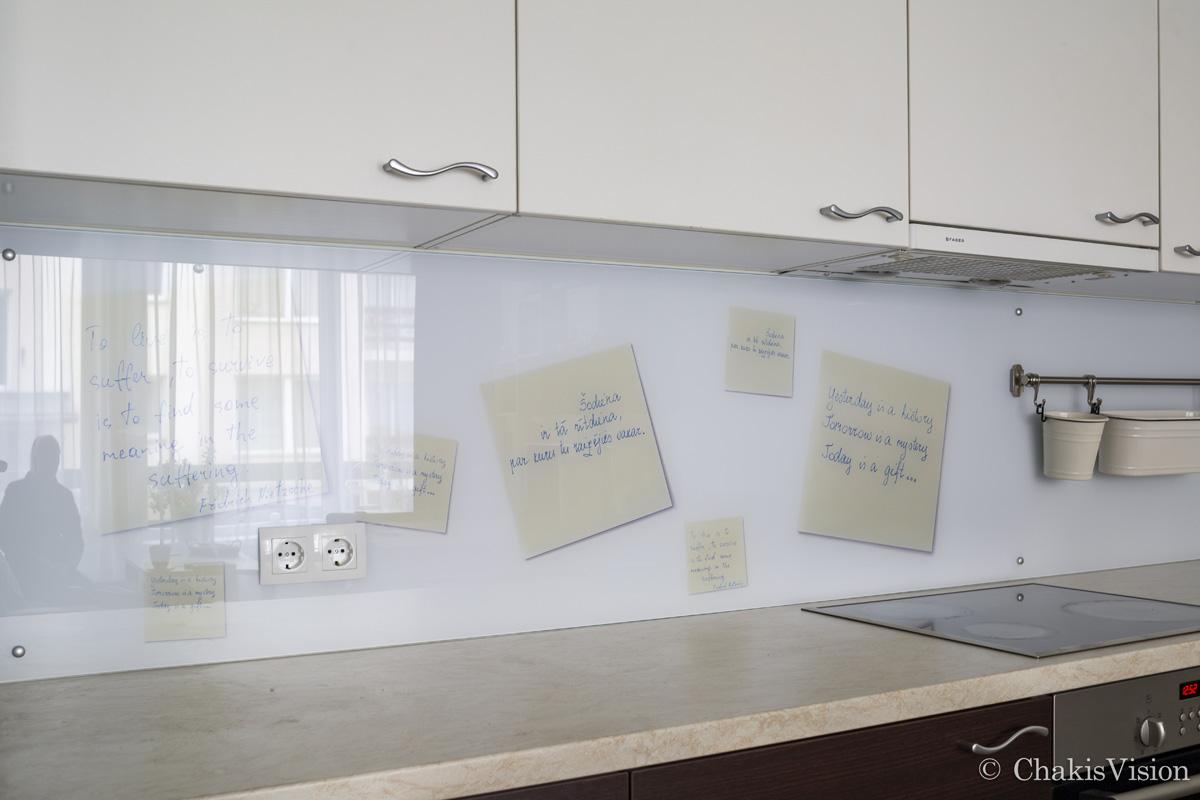 Personalizētie stikla paneļi virtuvei