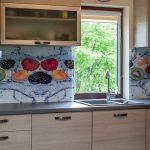 Virtuves stikla paneļi
